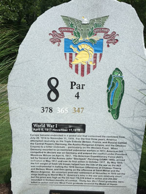 West Point Golf Course tee marker