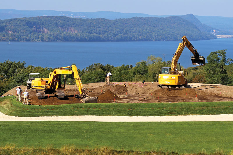 Putting green construction