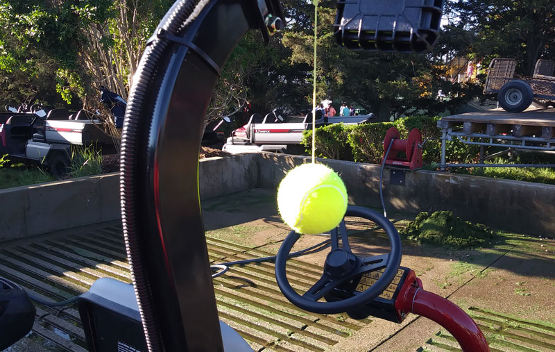 Mower tennis ball