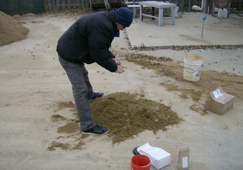 Reuse bunker sand