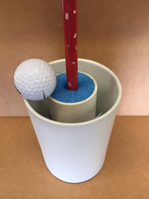Foam noodle golf hole
