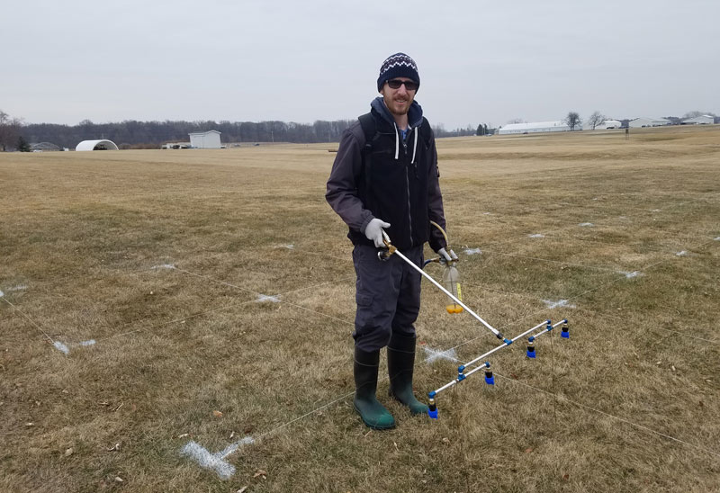 Michigan State turfgrass research