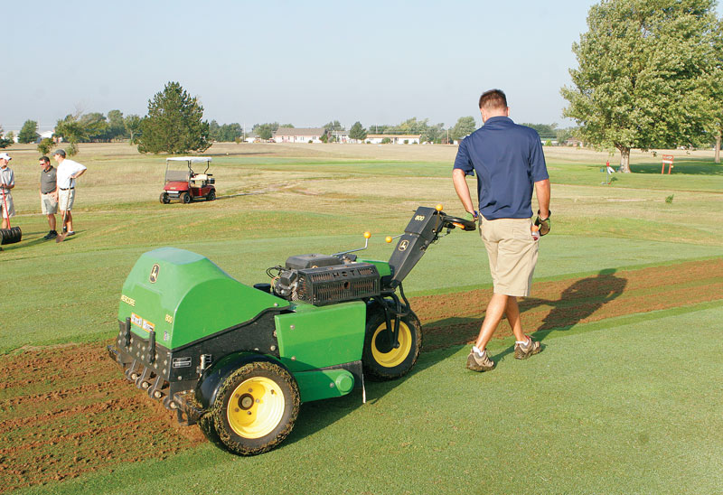 Golf course aeration