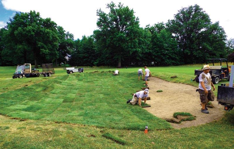 Eliminación de búnker del campo de golf