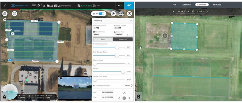 Golf course drone technology