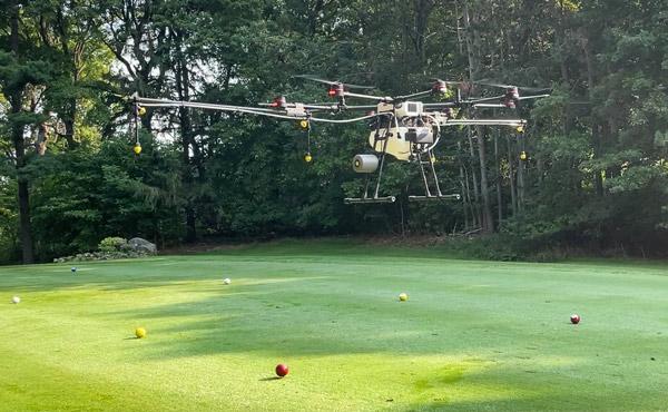 Golf course drones