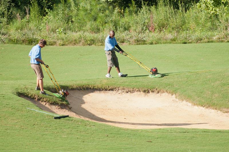 Training golf course staff