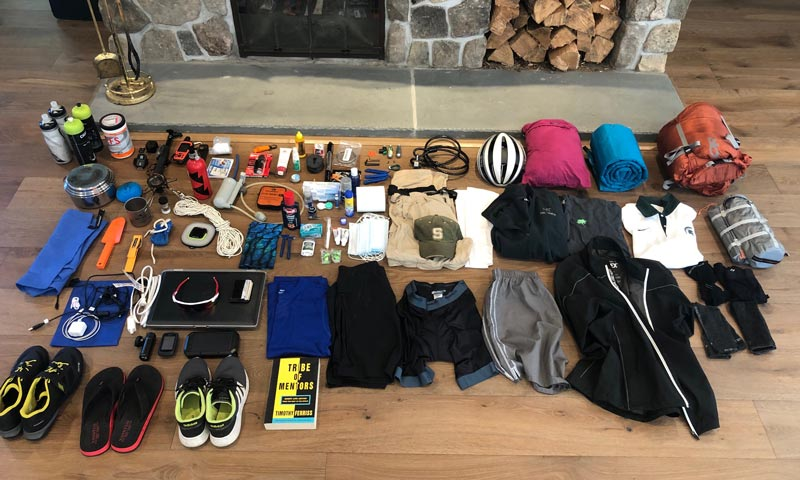 Cross-country bike trip gear
