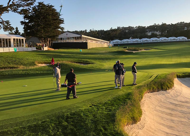 Pebble Beach 3rd green