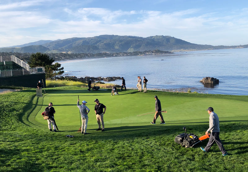 Pebble Beach crews