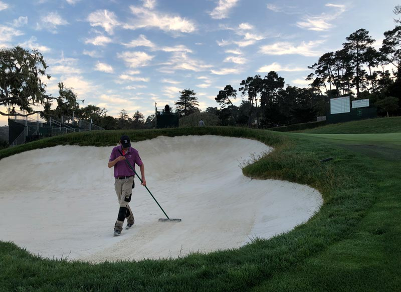 Pebble Beach greenside bunker
