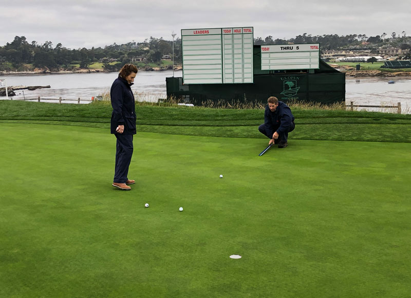 Pebble Beach Stimpmeter