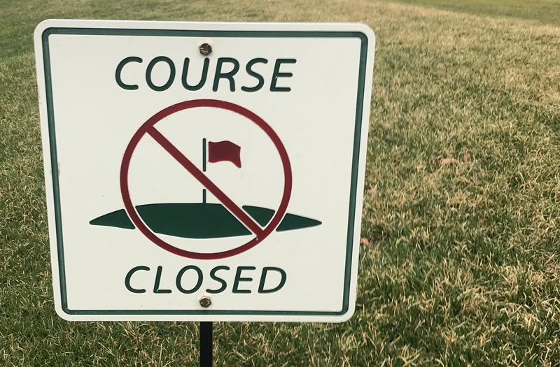 Golf course closed coronavirus