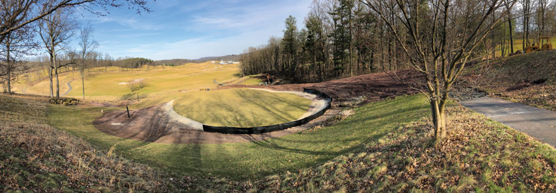 Golf course hole renovation