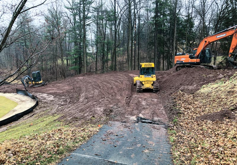Golf green renovation