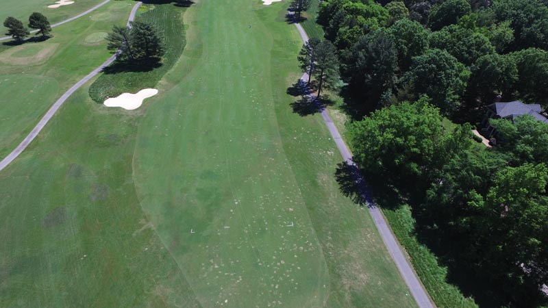 Golf course aerial map
