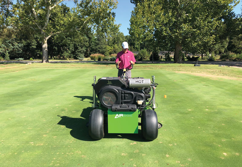 Turf air injection