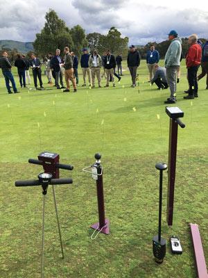 Golf moisture meters