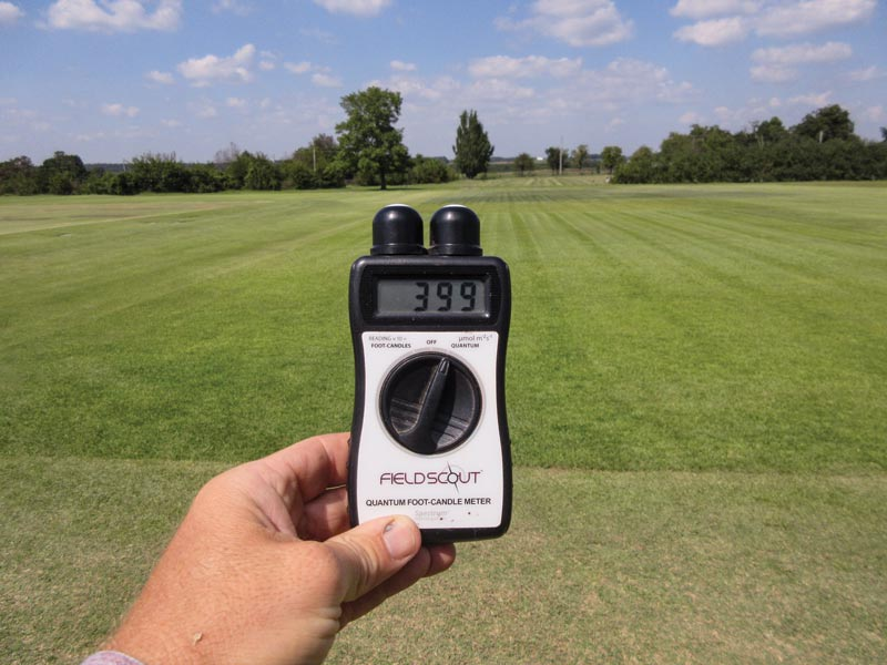 Turfgrass light meter