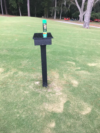 Insect repellent turf damage