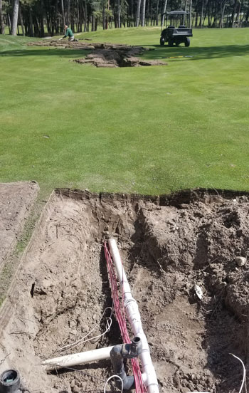 Irrigation system repair fairway